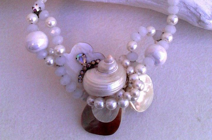 Handmade necklace,''Mykonos shells'' UNIQUE. by boutiqueofsandals on Etsy