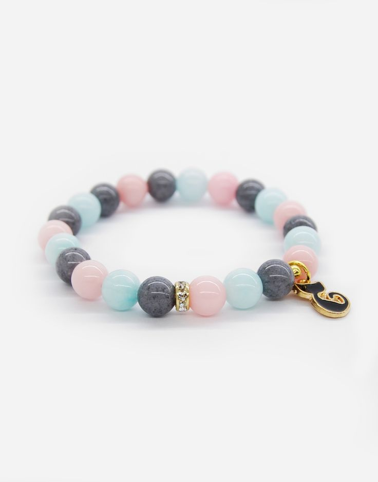 Bracelets / cats / pastels / natural stone