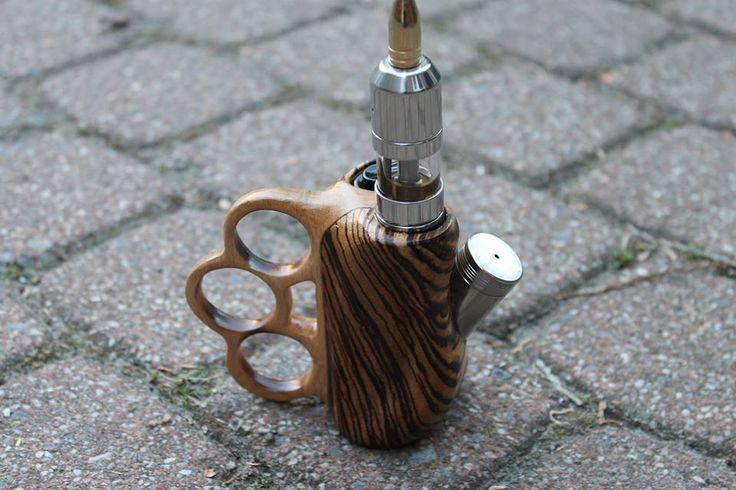 Knuckle duster, wooden mod.   Vaper   Vape, Electronic ...