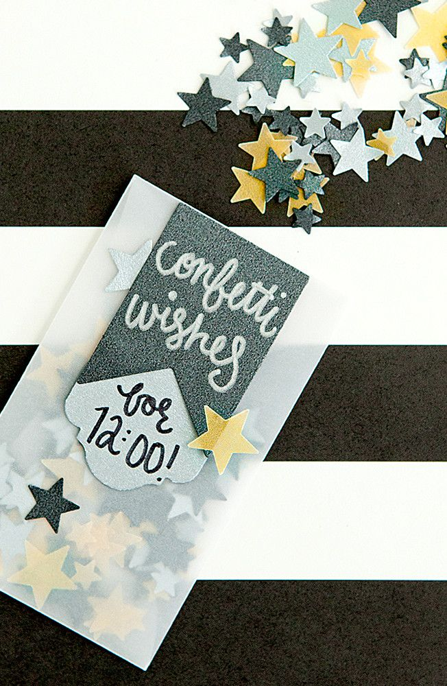 Celebrate the last few moments of the year with confetti. We've put together a simple DIY party décor idea that can be used for New Year's Eve or any other special event coming up. Click in for full instructions.