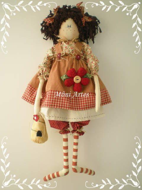 Boneca de pano Lala by ♥´´¯)♥Môniartes♥´´¯)♥, via Flickr