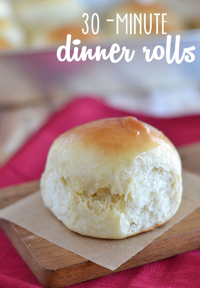 Did you know you can make dinner rolls - yeast ones, at that - in just 30 minutes?  It's true!  These 30-Minute Dinner Rolls are so easy to ...