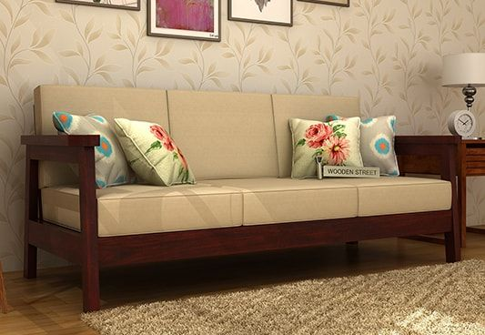 To keep it really #simple and #decent you can go for Conan 3 Seater Wooden Sofa with #Mahogany Finish. The #large #3SeaterSofa offers numerous services and therefore it is highly desirable. Buy #three #seater #sofa #online from the wide range in #Noida #Jaipur #Kolkata #Kochi