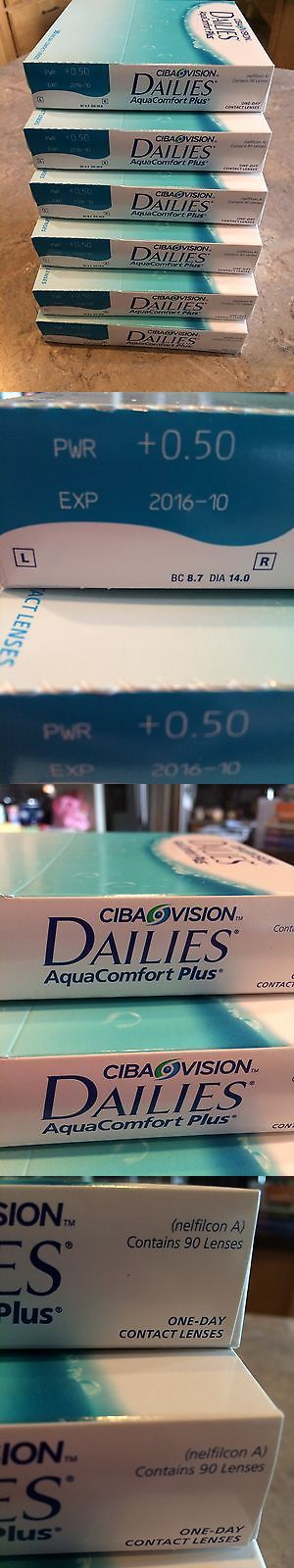 Other Eye Makeup: Ciba Vision Dailies Aquacomfort Plus Contact Lenses +0.50, 7 Boxes Of 90 Ea, Nip BUY IT NOW ONLY: $135.0