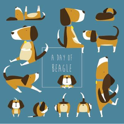 A Day Of Beagle    beagle illustration    personal work . 2014