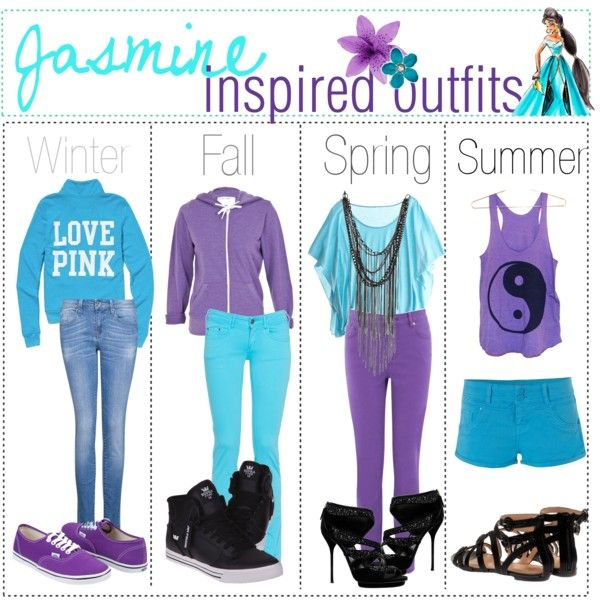 """""""Jasmine inspired outfits :)"""" by shannonstyles on Polyvore"""