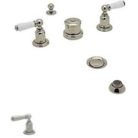 Rohl U3960 Perrin and Rowe Widespread Bidet Faucet, Available in Various Colors, Silver