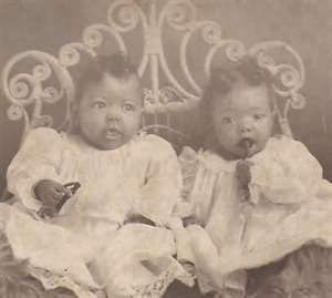 Vintage African American photograph Twin by TheTwinkleOfAnEye