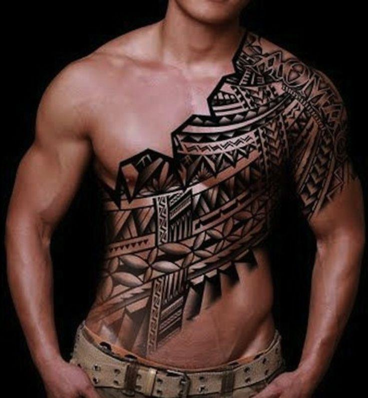 Samoa Tattoo Brust Ganzkörper