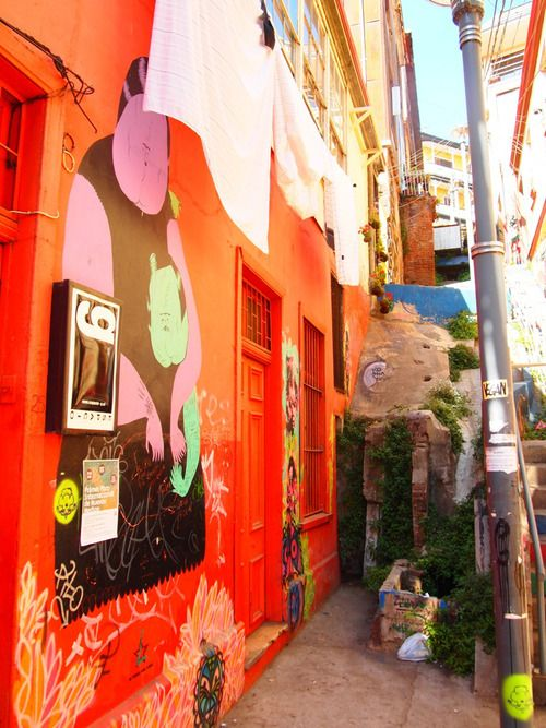 Scenes from Chile: Valparaiso's Street Art Such a beautiful city!