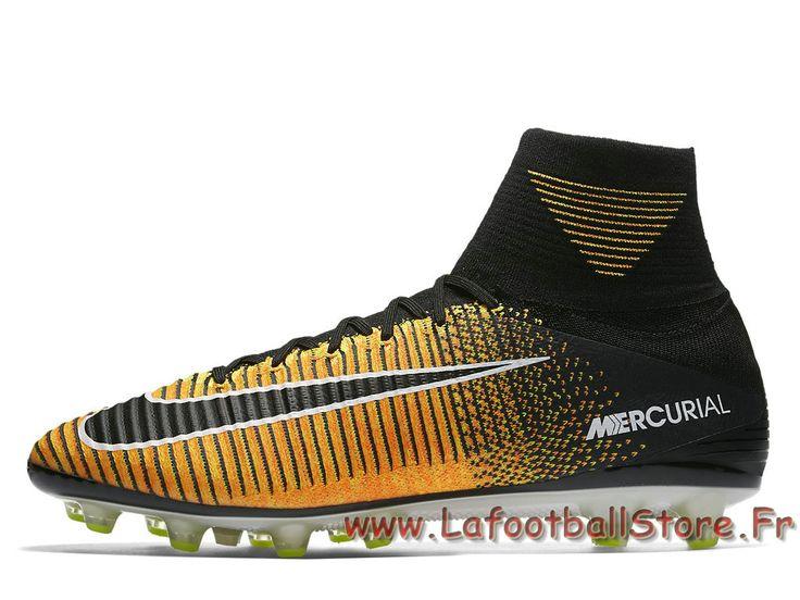 Nike Mercurial Superfly V AG-PRO Volt 831955_801 Chaussure de football à crampons pour terrain synthétique - 1707030814 - Chaussures de Foot | officielle Maillots | lafootballstore.fr