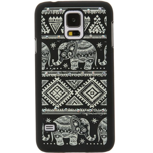 Aztec Elephant Glow in The Dark Phone Case Samsung Galaxy S5 (45 CAD) ❤ liked on Polyvore featuring accessories, tech accessories and samsung