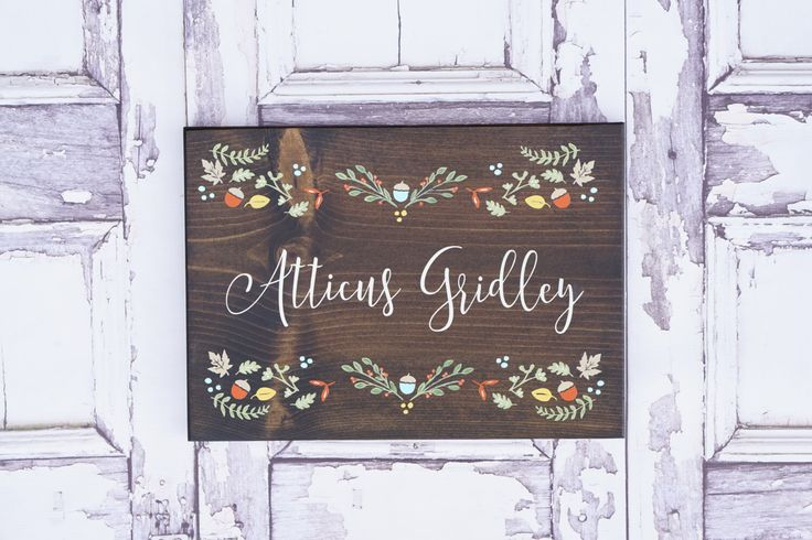 Custom Name sign Nursery name sign Baby Boy name Baby Girl name Woodland Nursery Rustic name Sign Childs room Sign above the crib by DistressedLuv on Etsy https://www.etsy.com/listing/254127955/custom-name-sign-nursery-name-sign-baby