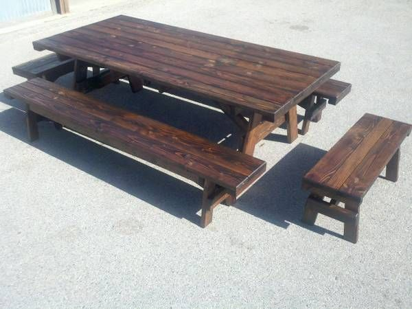 8ft. picnic table   Picnic table, Farmhouse table, Big ...