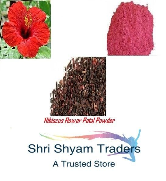Details About Sun Dried Indian Gudhal Hibiscus Flower Petal Powder