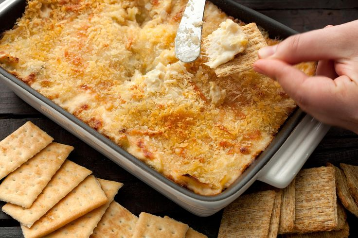 With Parmesan and Swiss cheese and loads of artichoke, this easy and classic dip is big enough to feed a crowd at your next big game day party.What to buy: Be...