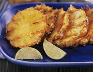 Grilled pineapple photo by Getty Images / Luzia Ellbert. Yum!