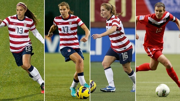 Portland Thorns FC: Morgan, Heath, Buehler, and Sinclair. Bring it!