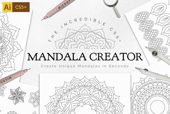 Mandala Creator Pro for Ai CS5+ by everdrifter on @creativemarket
