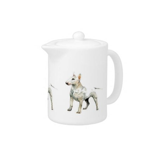 De witte Theepot van Bull terrier
