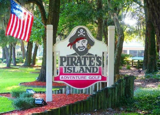 Pirate's Island Mini Golf, Hilton Head. Because not all of us are real golfers.