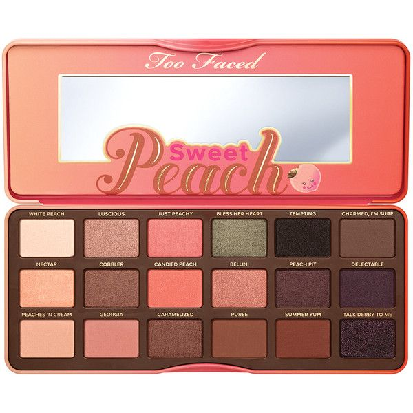 Sweet Peach Eye Shadow Palette - Too Faced ($65) ❤ liked on Polyvore featuring beauty products, makeup, eye makeup, eyeshadow, beauty, eyes, fillers, backgrounds, too faced cosmetics and palette eyeshadow