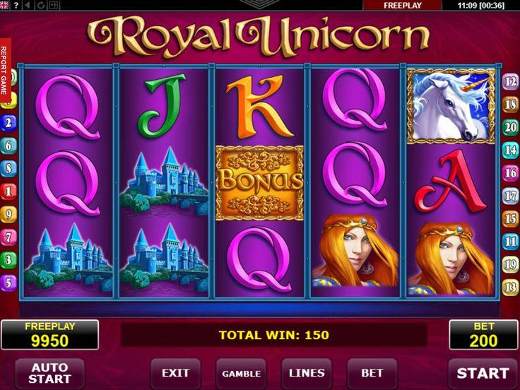Drehe jetzt unsere Neusten absolut kostenlos Automat Royal Unicorn - http://freeslots77.com/de/royal-unicorn/
