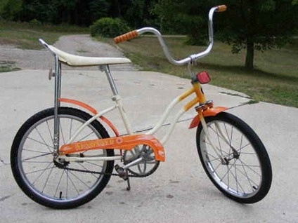 Vintage Huffy banana seat bike. My sister had one than it was mine. Loved that bike!