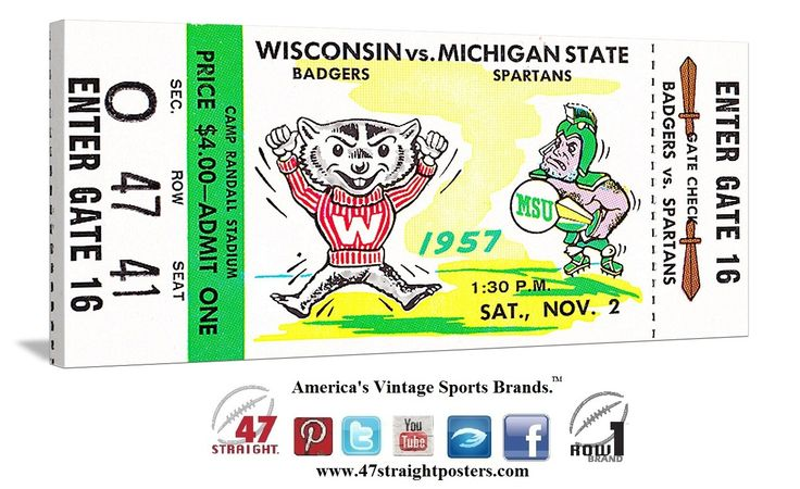 Wisconsin Badgers football tickets, Best ticket stub collection