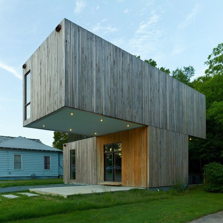 Architecture students create prefab Cantilever House in Arkansas