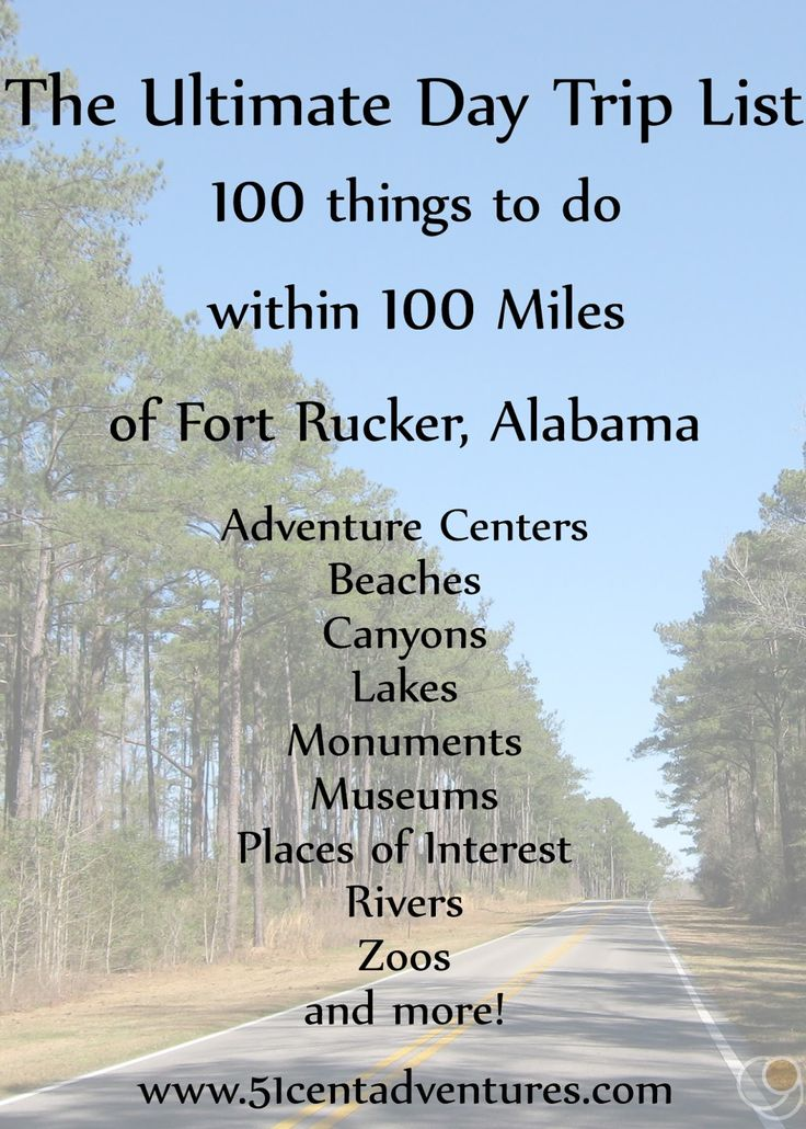This is the post you didn't know you were looking for! 100 Things to do within 100 miles of Fort Rucker. You'll never have a boring weekend again.
