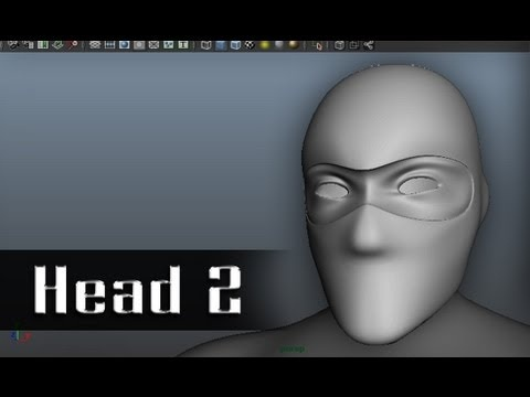 Modeling a Character in Maya - part 9 of 10