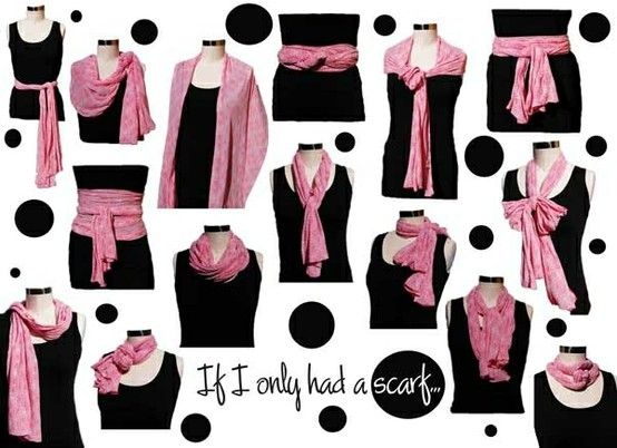 tie - как завязывать шарф, как повязать платок