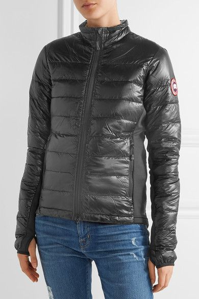 Canada Goose - Hybridge Lite Jersey-paneled Quilted Shell Down Jacket - Black -