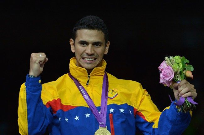 English newspaper names Venezuelan Gold-Medalist's tube stunt as one of the best bits of the London Olympics Metro Sport's London 2012 Olympics: The best bits - part one