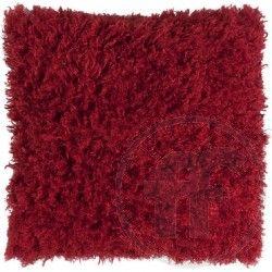 Alpakka-koristetyyny (45 x 45 cm), punainen