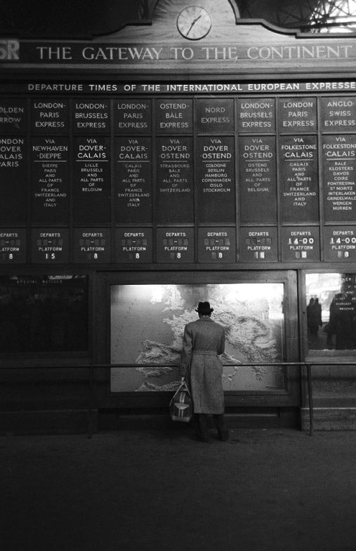 Train Station along the Orient Express route 1950 Photo: Jack Birns