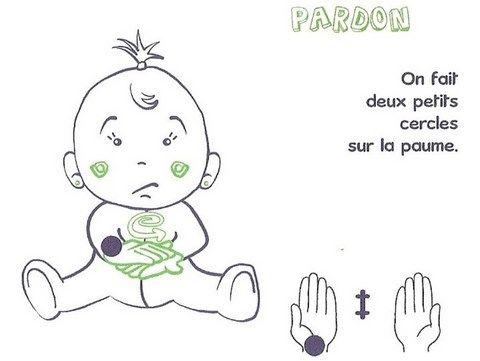 signe avec bébé PARDON