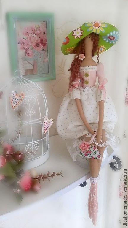 Купить Кукла интерьерная Летняя феечка - розовый, лето, летнее настроение, летний ангел