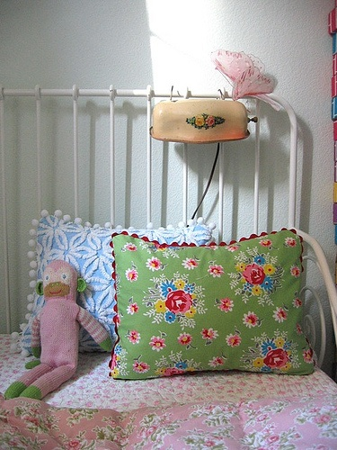 ~ vintage child ~ Yes, This makes me think of a happy childhood space! With a special little light, and something about the green pillow.
