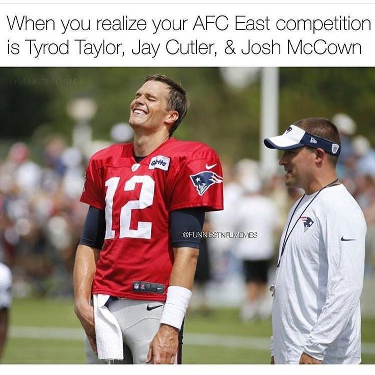 When you realize who the other starting QB's in your division are -- photo via FunniestNFLMemes - #nflmeme #nflnews #nflmemes #nflfantasy #nflpreseason #fantasy #fantasylife #fantasy2017 #fantasydraft #fantasyfootball #fantasyfootballapp #fantasyfootballnews #fantasyfootballblog #fantasyfootballteam #fantasyfootballadvice4u #fantasyfootballdraft #fantasyfootballadvice #patriots #jets #dolphins #bills #newenglandpatriots #newyorkjets #miamidolphins #buffalobills #afceast #tombrady…