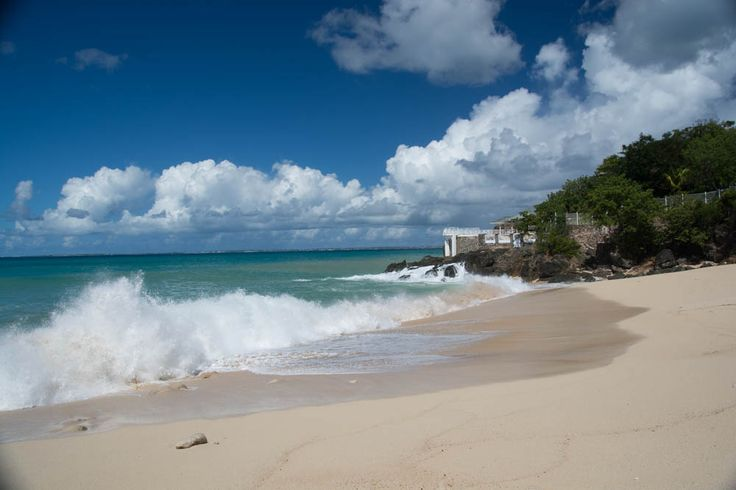 Shot from the beach towards the Country of Anguilla