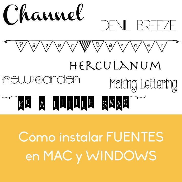 Cómo Instalar Fuentes en Windows y Mac - Trucos para mi Blog