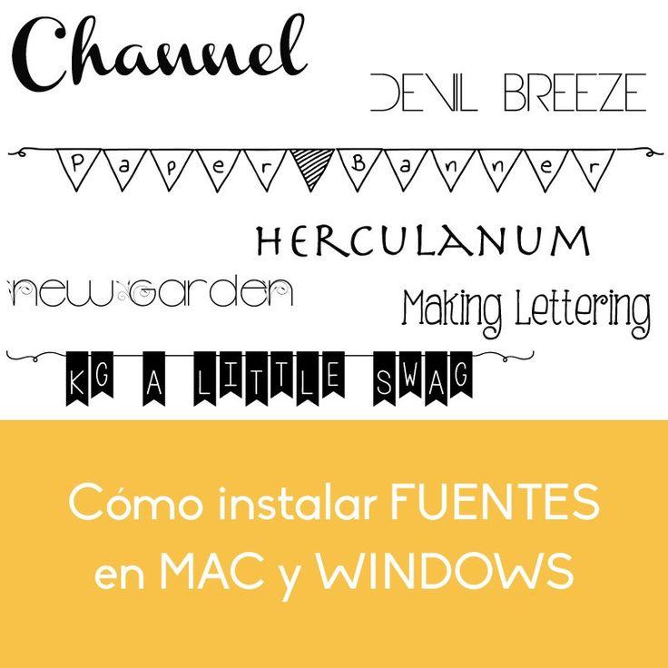 Cómo Instalar Fuentes en Windows y Mac - Trucos para mi Blog