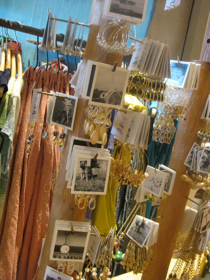 anthropologie jewelry display. 11/1/11, did this in booth w/ vintage jewelry and old photos of my family.