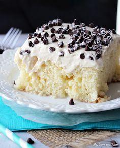 Cannoli Poke Cake Recipe - RecipeChart.com
