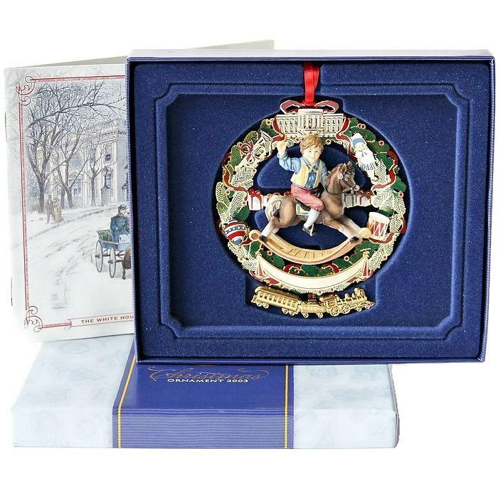 2003 White House Historical Association Christmas Holiday Ornament Box Booklet   #TheWhiteHouseHistoricalAssociation