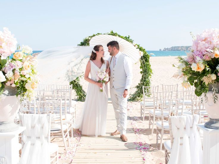 algarve beach ceremony. @weddingsbyrebecca lagos beach wedding Portugal beach wedding wedding planner -Algarve weddings by Rebecca
