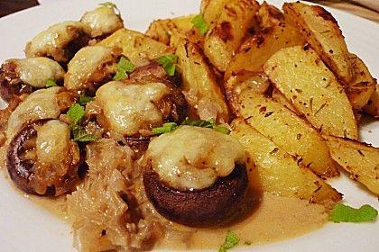 Illes leicht gefüllte Champignonköpfe auf Ofenkartoffeln 1