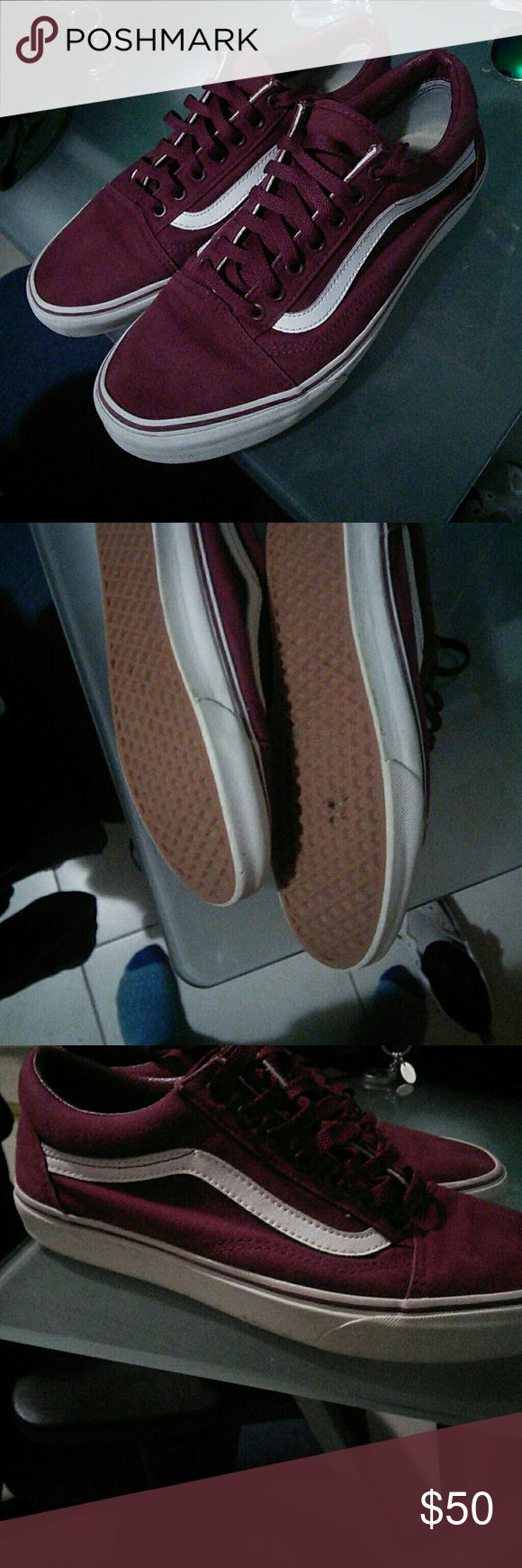 Vans Old Skool Color (Vino) Vans Shoes Sneakers